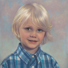 Graham, pastel portrait