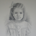 McLean, charcoal portrait girl