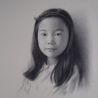 Ruby, charcoal portrait girl