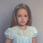 Little Princess, pastel portrait