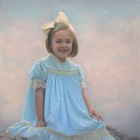 Sterling, 3/4 length pastel portrait of girl
