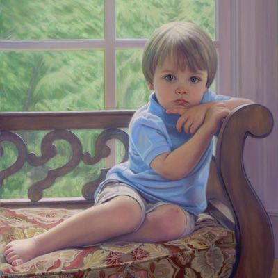 sample pastel portrait of boy