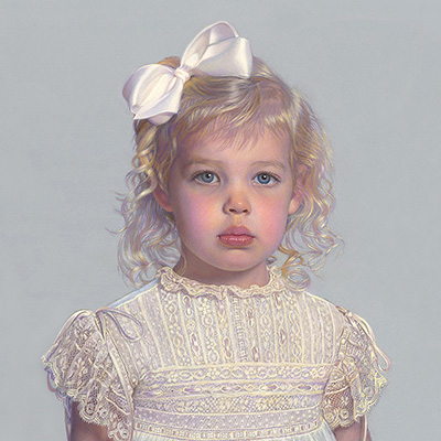 sample pastel portrait of girl